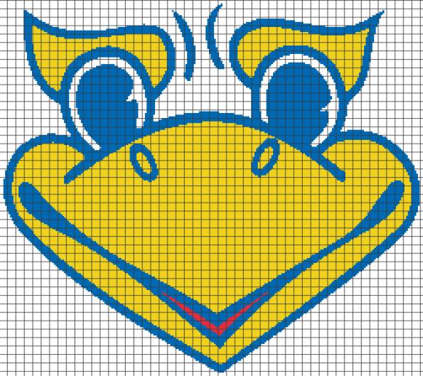 University of Kansas Jayhawks (Chart/Graph AND Row-by-Row Written Crochet Instructions) – 06