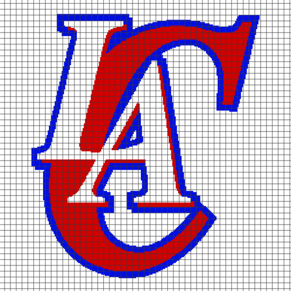 Los Angeles Clippers (Chart/Graph AND Row-by-Row Written Crochet Instructions) – 01