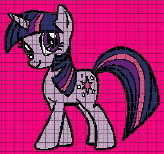 My Little Pony (Chart/Graph AND Row-by-Row Written Crochet Instructions) – 01