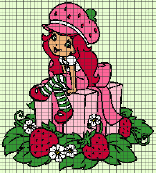 Strawberry Shortcake (Chart/Graph AND Row-by-Row Written Crochet Instructions) – 03