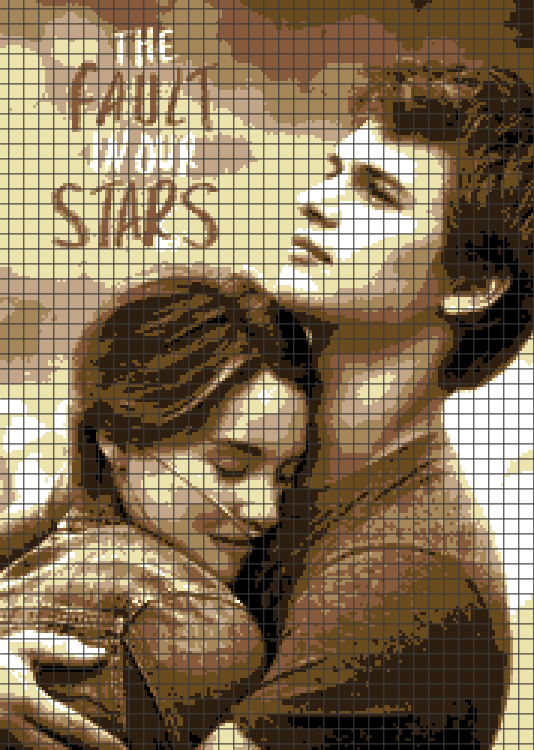 The Fault in Our Stars (Chart/Graph AND Row-by-Row Written Crochet Instructions) – 01