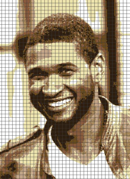 Usher Raymond (Chart/Graph AND Row-by-Row Written Crochet Instructions) – 01