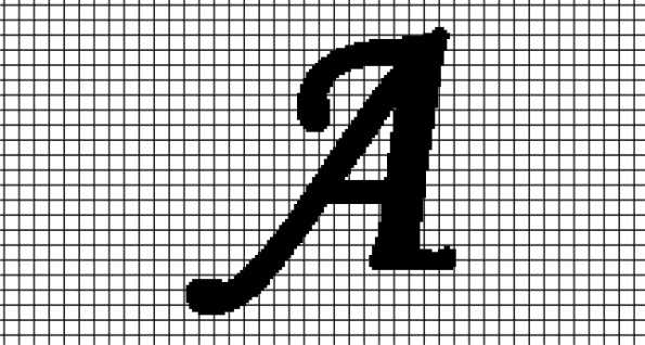 A – Monotype Corsiva (Chart/Graph AND Row-by-Row Written Crochet Instructions)