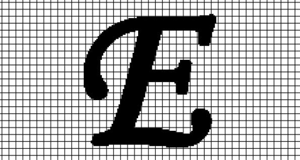 E – Monotype Corsiva (Chart/Graph AND Row-by-Row Written Crochet Instructions)