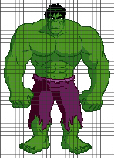 The Incredible Hulk (Chart/Graph AND Row-by-Row Written Crochet Instructions) – 01