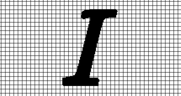 I – Monotype Corsiva (Chart/Graph AND Row-by-Row Written Crochet Instructions)