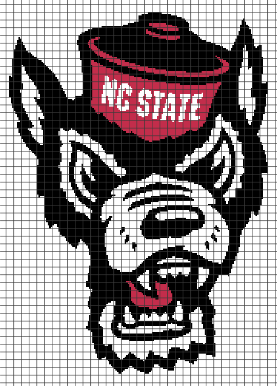 North Carolina State University (Chart/Graph AND Row-by-Row Written Crochet Instructions) – 02