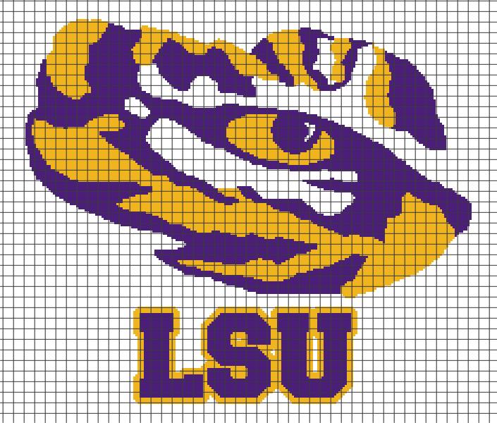 Lsu Tiger Eye Chartgraph And Row By Row Written Crochet
