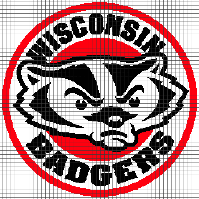 Wisconsin Badgers Chartgraph And Row By Row Written Crochet