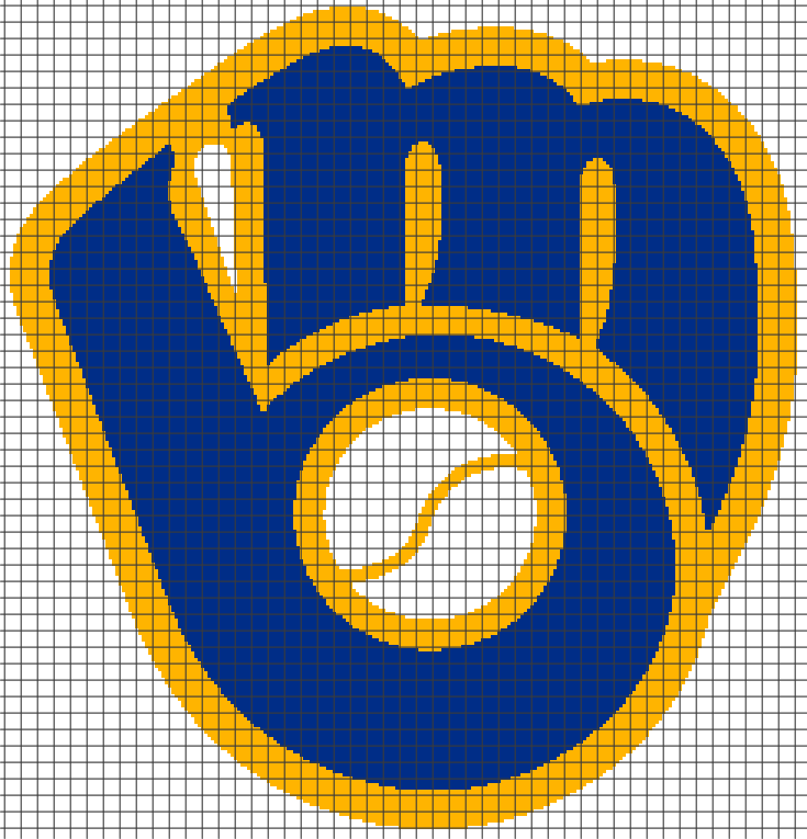 Milwaukee Brewers Graph And Row By Row Written Crochet Instructions