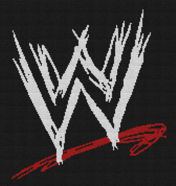 WWE Logo - Single Crochet Written Graphghan Pattern - 01 (160x170)