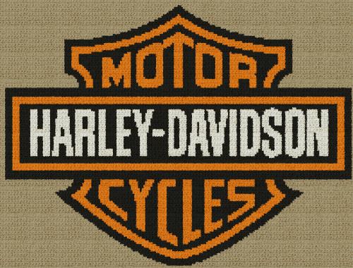 Harley-Davidson Motorcycles - Single Crochet Written Graphghan Pattern - 08 (199x151)