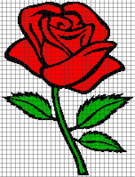 Rose (Graph AND Row-by-Row Written Crochet Instructions) – 03