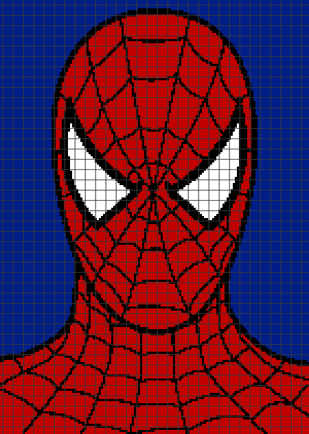 Spiderman (Graph AND Row-by-Row Written Crochet ...