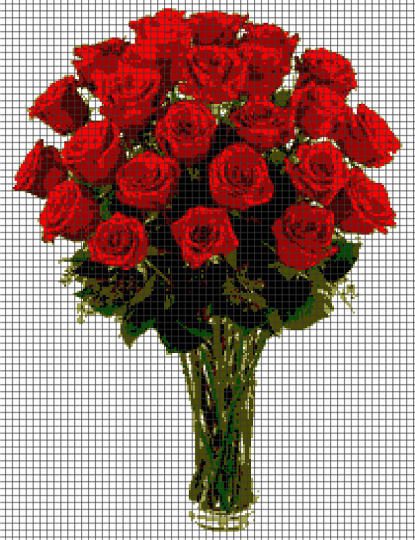 Roses (Graph AND Row-by-Row Written Crochet Instructions) – 02