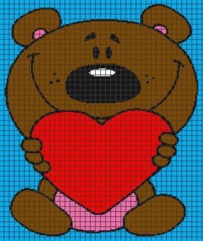 Heart & Sew: Bertie Bear - Free Crochet / Amigurumi Pattern | 476x400