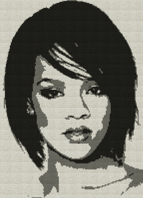 Rihanna - Single Crochet Written Graphghan Pattern - 01 (145x201)