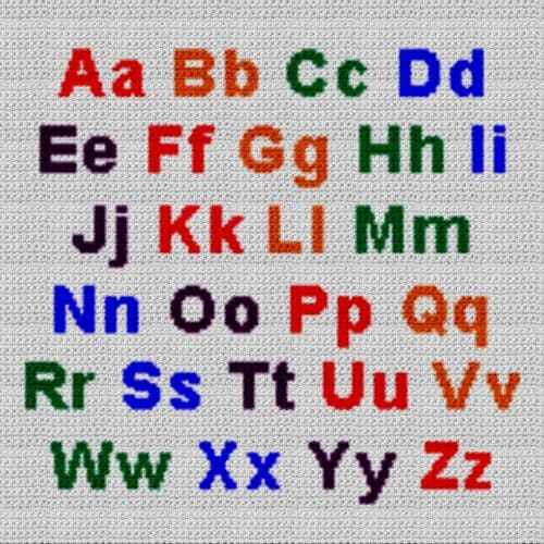Alphabet Blanket (Graph AND Row-by-Row Written Crochet Instructions) – 02