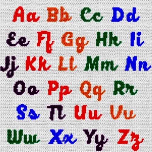 Alphabet Blanket (Graph AND Row-by-Row Written Crochet Instructions) – 04