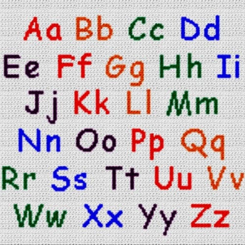 Alphabet Blanket (Graph AND Row-by-Row Written Crochet Instructions) – 06