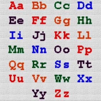 Alphabet Blanket (Graph AND Row-by-Row Written Crochet Instructions) - 09