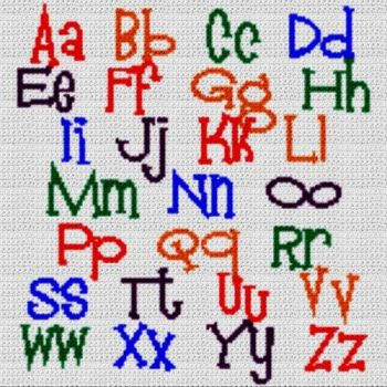 Alphabet Blanket (Graph AND Row-by-Row Written Crochet Instructions) - 12