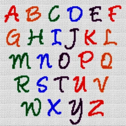 Alphabet Blanket (Graph AND Row-by-Row Written Crochet Instructions) – 15