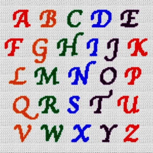 Alphabet Blanket (Graph AND Row-by-Row Written Crochet Instructions) – 16