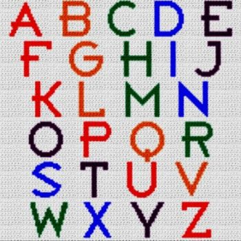 Alphabet Blanket (Graph AND Row-by-Row Written Crochet Instructions) - 17