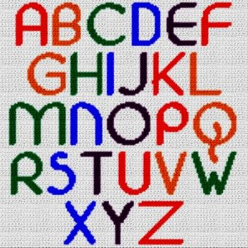 Alphabet Blanket (Graph AND Row-by-Row Written Crochet Instructions) - 19