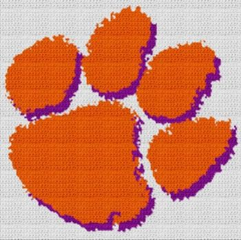 Clemson University Tigers (Graph AND Row-by-Row Written Crochet Instructions) - 04