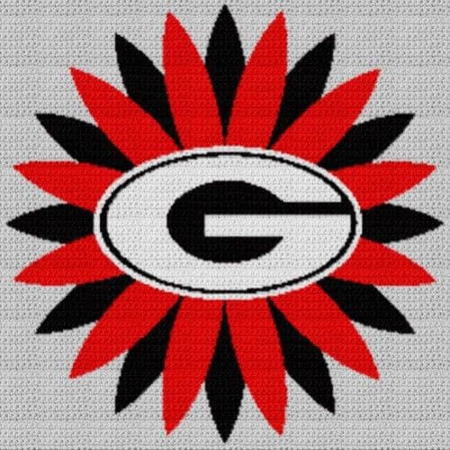 a07a68dcf University of georgia bulldawgs graph and row written crochet instructions  – jpg 500x499 Georgia crochet logo