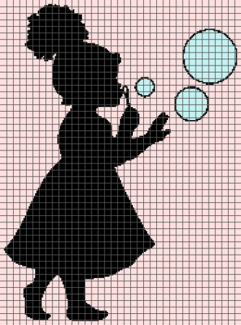 Little Girl Blowing Bubbles (Graph AND Row-by-Row Written Crochet Instructions) - 01