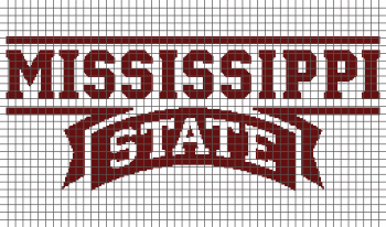 Mississippi State University (Graph AND Row-by-Row Written Crochet Instructions) - 01