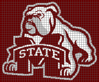 Mississippi State University Bulldogs (Graph AND Row-by-Row Written Crochet Instructions) - 02