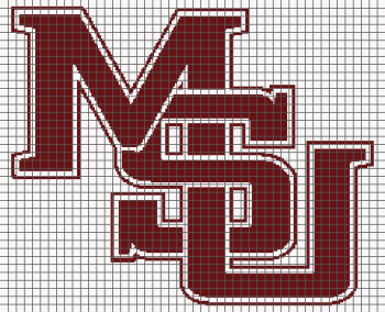 Mississippi State University (Graph AND Row-by-Row Written Crochet Instructions) - 03