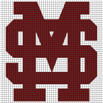 Mississippi State University (Graph AND Row-by-Row Written Crochet Instructions) - 04