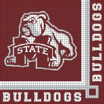 Mississippi State University Bulldogs (Graph AND Row-by-Row Written Crochet Instructions) - 05