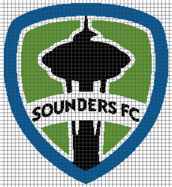 Seattle Sounders FC (Graph AND Row-by-Row Written Crochet Instructions) - 01