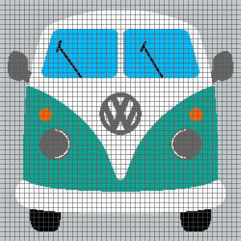 Vintage Volkswagen Bus (Graph AND Row-by-Row Written Crochet Instructions) - 01