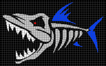 vil Fish Skeleton (Graph AND Row-by-Row Written Crochet Instructions) - 01