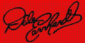 Dale Earnhardt Signature - (Graph AND Row-by-Row Written Crochet Instructions) - 02