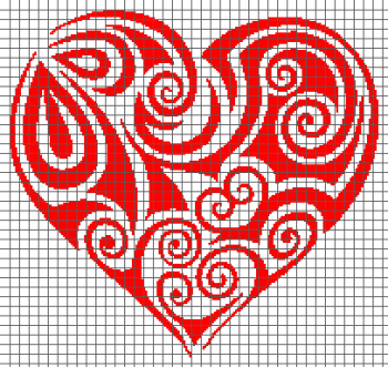 Tribal Heart - (Graph AND Row-by-Row Written Crochet Instructions) - 11