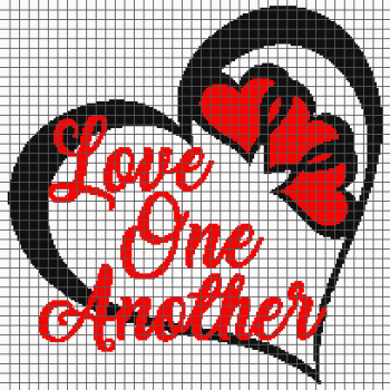 Love One Another - (Graph AND Row-by-Row Written Crochet Instructions) - 06