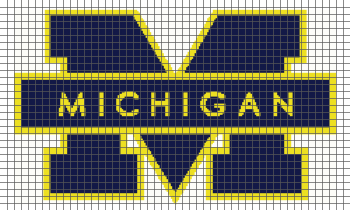 University of Michigan - (Graph AND Row-by-Row Written Crochet Instructions) - 01