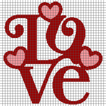 Love - (Graph AND Row-by-Row Written Crochet Instructions) - 07