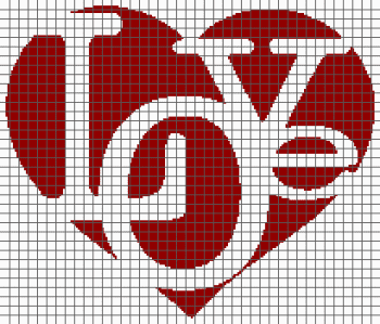 Love in Heart - (Graph AND Row-by-Row Written Crochet Instructions) - 08