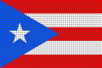 Puerto Rican Flag - (Graph AND Row-by-Row Written Crochet Instructions) - 01