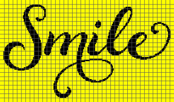 Smile Script - (Graph AND Row-by-Row Written Crochet Instructions) - 02
