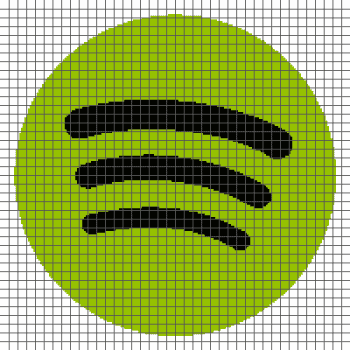 Spotify Logo - (Graph AND Row-by-Row Written Crochet Instructions) - 01